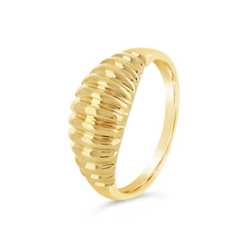 Load image into Gallery viewer, Gold Ribbed Dome Ring - Alexa Rose Jewelry