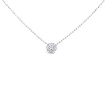 Load image into Gallery viewer, 18KW Floral Diamond Necklace - ALEXA ROSE