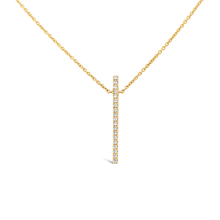 Load image into Gallery viewer, Vertical Diamond Bar Necklace - ALEXA ROSE