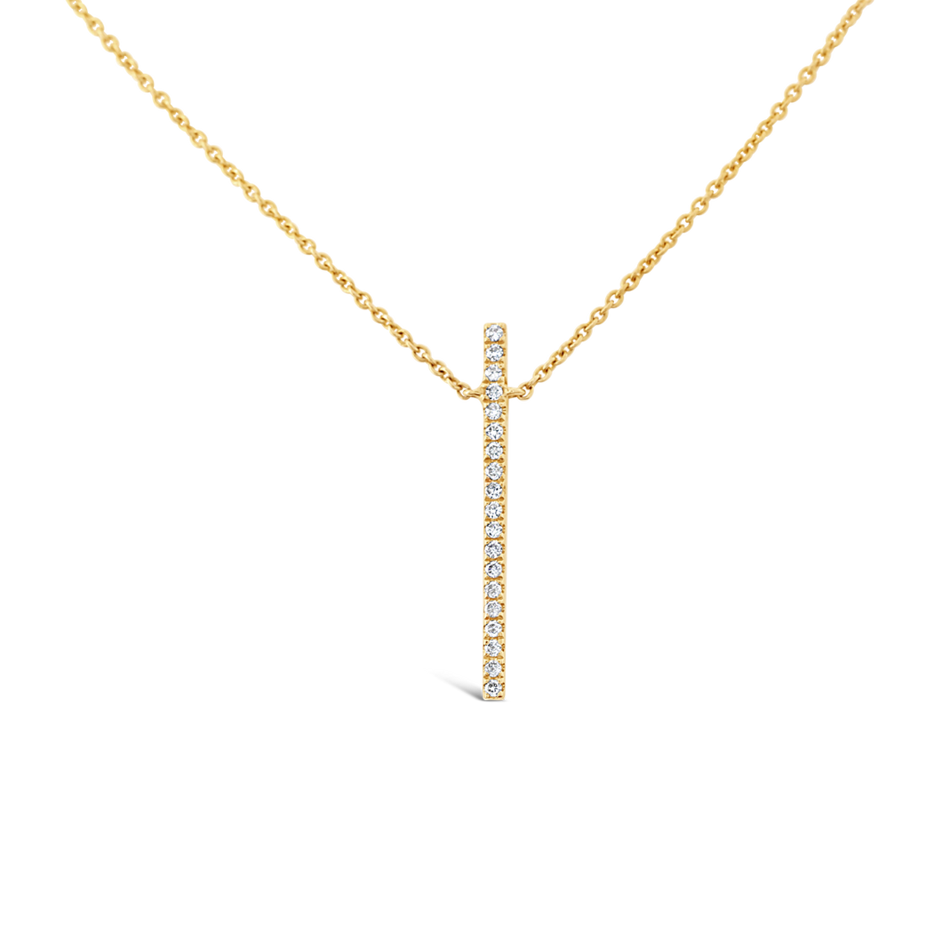 Vertical Diamond Bar Necklace - ALEXA ROSE