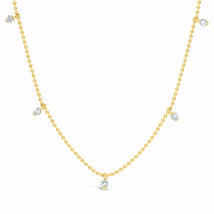 5 Stone Diamond Necklace