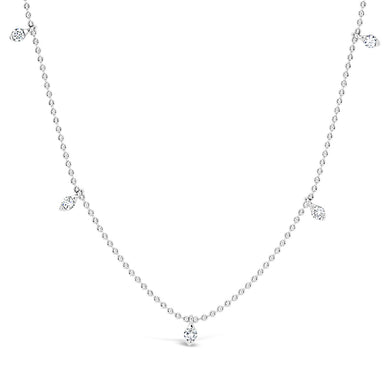 5 Stone Diamond Necklace - ALEXA ROSE