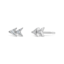 Load image into Gallery viewer, Double Triangle Diamond Studs - ALEXA ROSE