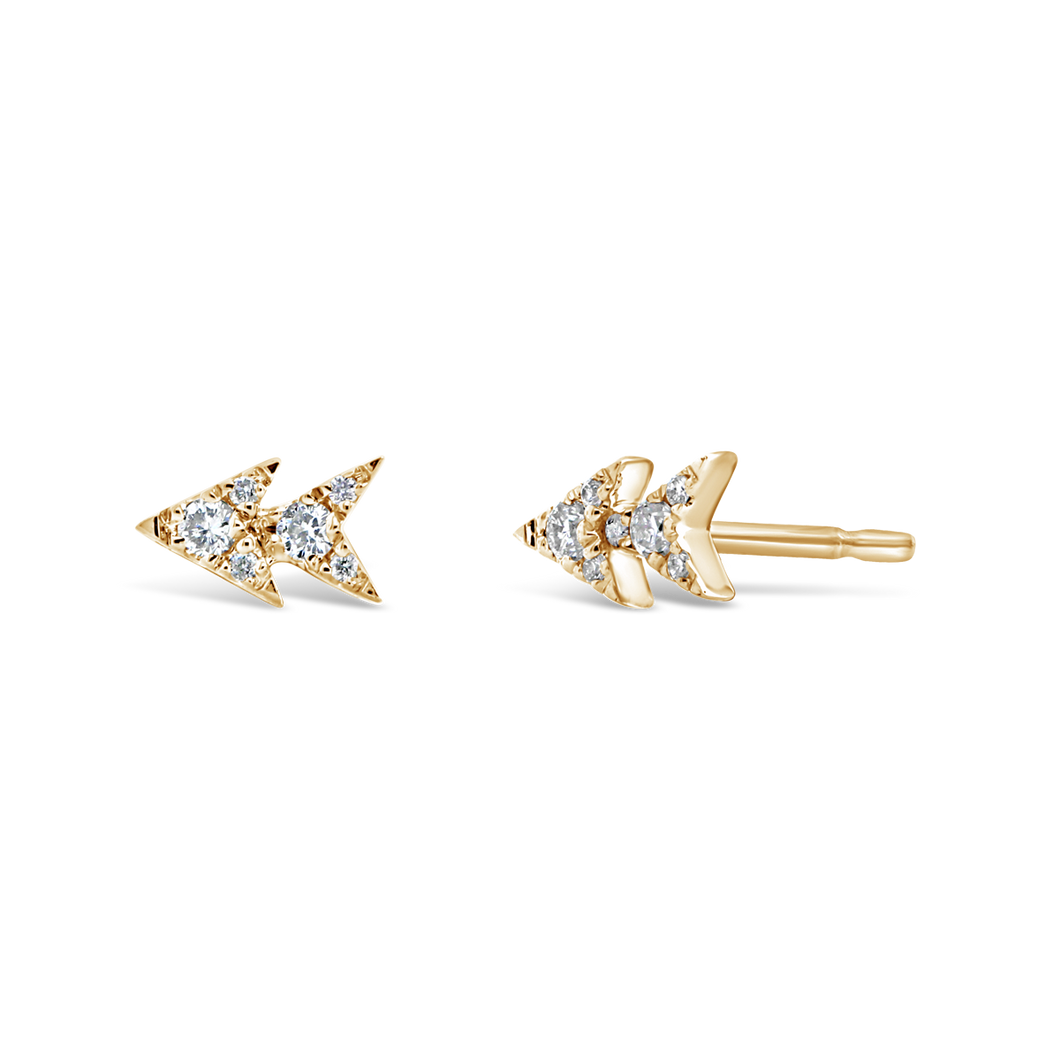 Double Triangle Diamond Studs - ALEXA ROSE
