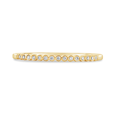 Bezel Set Diamond Band - ALEXA ROSE