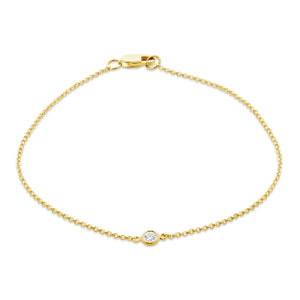 Solo Bezel Set Diamond Bracelet