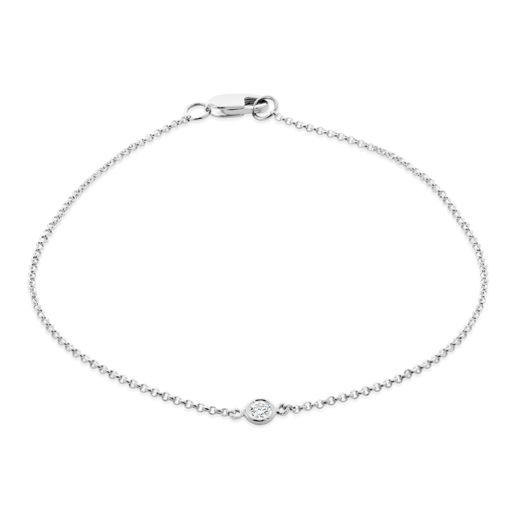 Solo Bezel Set Diamond Bracelet - ALEXA ROSE