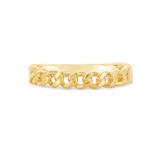 Load image into Gallery viewer, Gold Chain Ring - Alexa Rose Jewelry