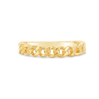 Gold Chain Ring - Alexa Rose Jewelry
