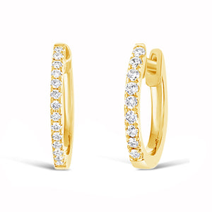 10 mm Diamond Hoop Earrings