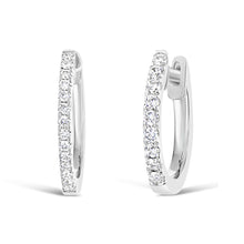 Load image into Gallery viewer, 10 mm Diamond Hoop Earrings - ALEXA ROSE