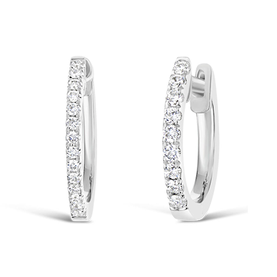 10 mm Diamond Hoop Earrings - ALEXA ROSE