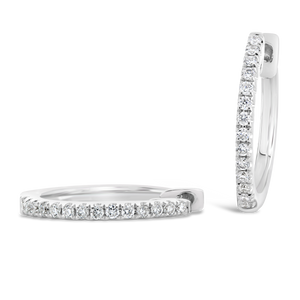 14 mm Diamond Hoop Earrings - ALEXA ROSE