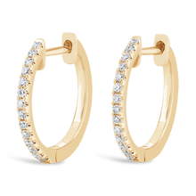 Load image into Gallery viewer, 14 mm Diamond Hoop Earrings - ALEXA ROSE