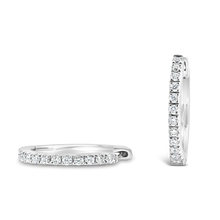 Load image into Gallery viewer, 12 mm Diamond Hoop Earrings - ALEXA ROSE