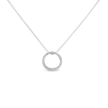 Load image into Gallery viewer, Diamond Circle Pendant Necklace - ALEXA ROSE