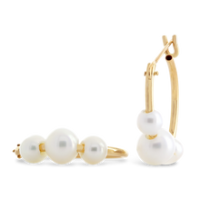 Load image into Gallery viewer, Freshwater Pearl Hoop Earrings - ALEXA ROSE