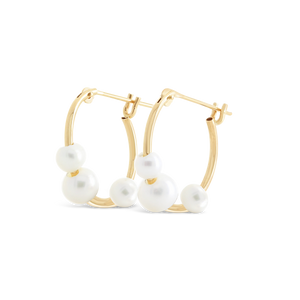 Freshwater Pearl Hoop Earrings - ALEXA ROSE