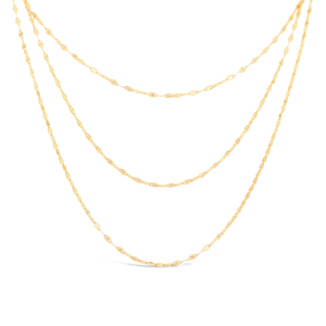 Layered Flat Disc Necklace - ALEXA ROSE