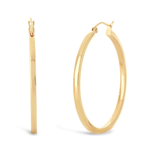 Load image into Gallery viewer, Flat Edge Hoop Earrings - ALEXA ROSE