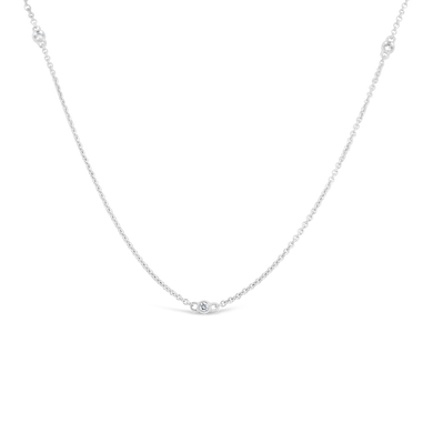 Milgrain Diamonds By the Yard Necklace - ALEXA ROSE