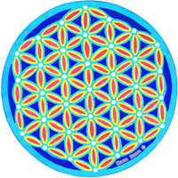 Turquoise Flower of Life