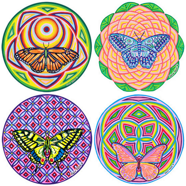 "Sacred Butterflies (large size 6"") Cosmic Circle"