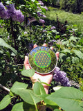Neon Green Flower of Life (small)