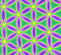Neon Green Flower of Life (large)