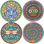 "Choose any 4 (large size 6"") Cosmic Circles"
