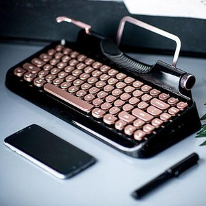 Rymek - Retro Bluetooth Mechanical Keyboard (Delivery Date: 10 May)