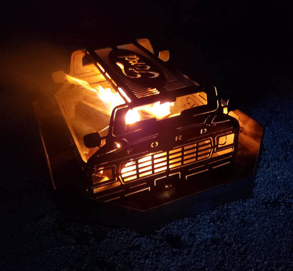 Automotive themed fire pits