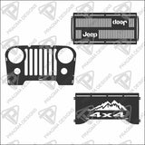 Jeep Wrangler CJ, front grille only