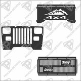 Jeep Wrangler YJ, front grille only