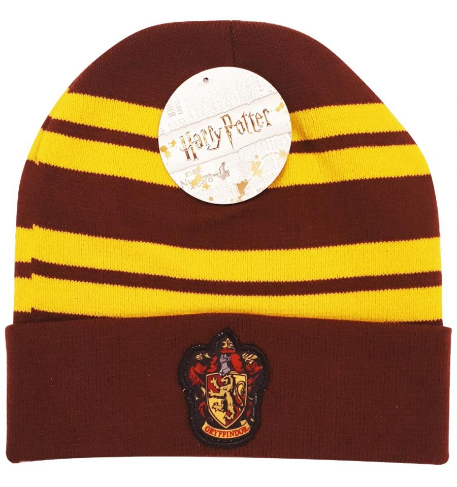 Bonnet Harry Potter - Logo Maison Gryffondor