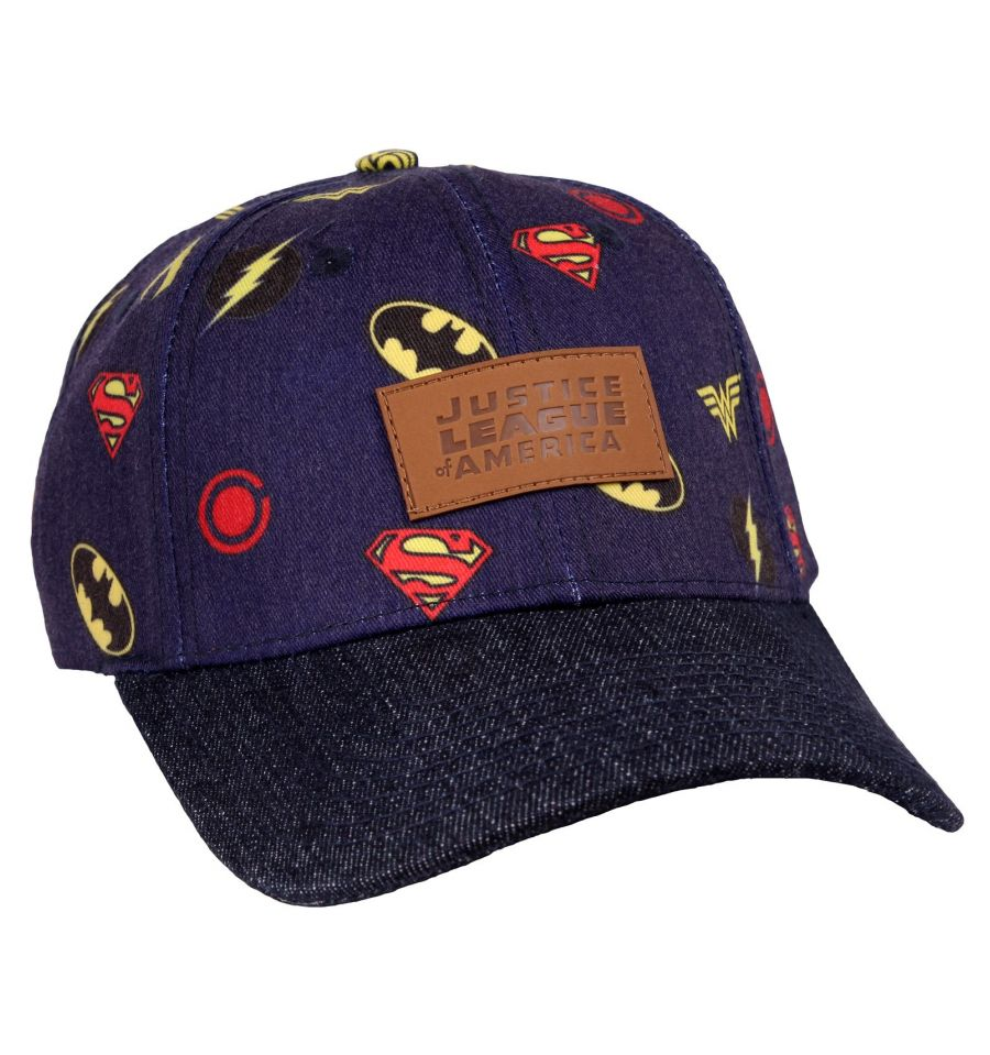 Casquette Justice League - DC Comics - All Over Logo Classic