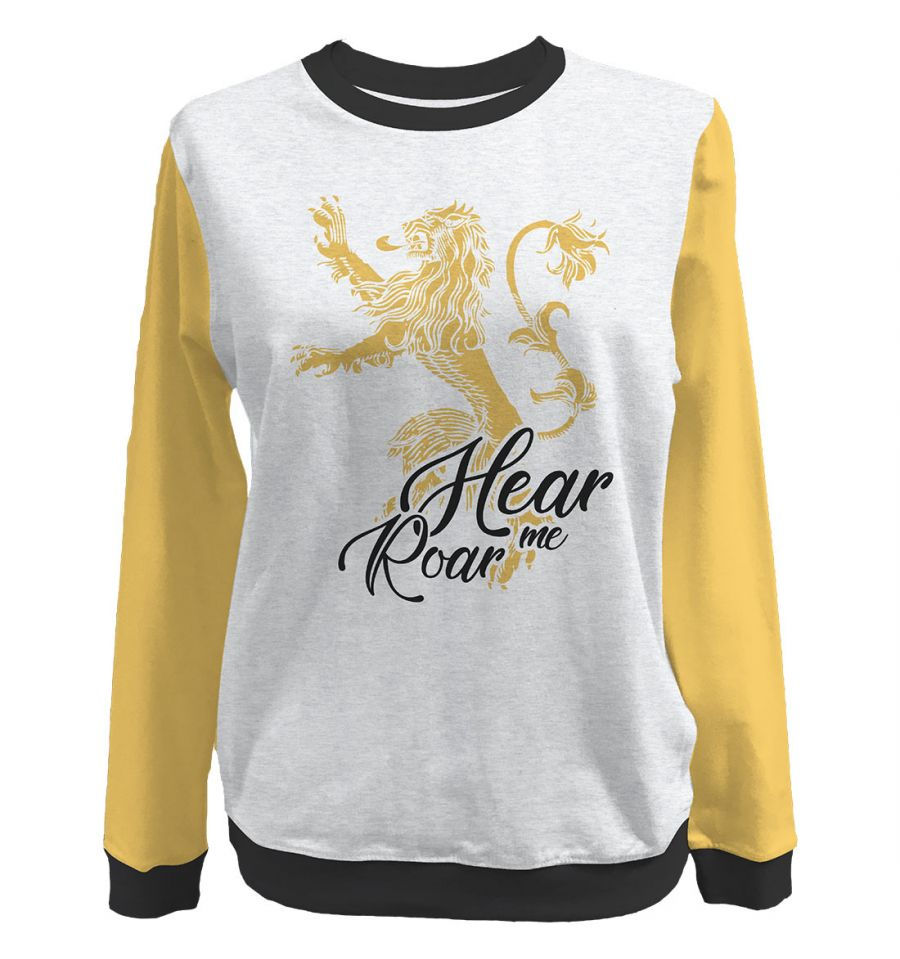 Sweat-Shirt Game of Thrones - Femme - Hear Me Roar