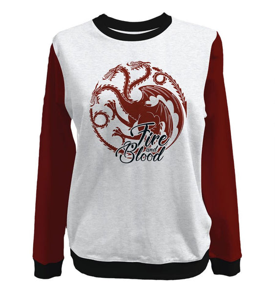 Sweat-Shirt Game of Thrones - Femme - Fire And Blood