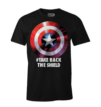 T-Shirt Captain America - Homme - Marvel - Take Back The Shield