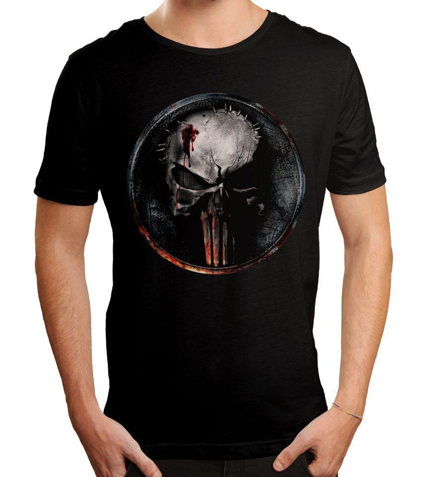 T-shirt Daredevil Marvel - Blood Punisher Logo
