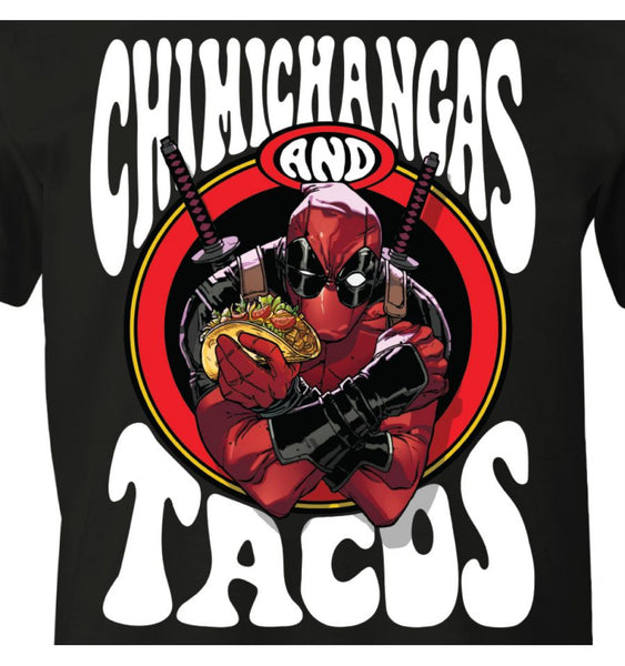 T-Shirt Deadpool - Homme - Marvel - Chimichangas and Tacos