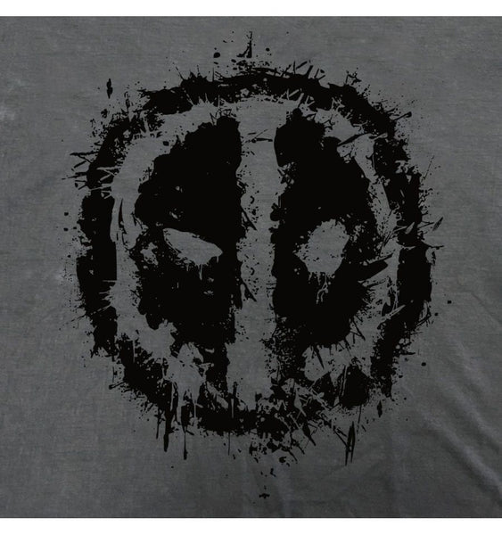 T-shirt Deadpool Marvel - Logo Splash Head