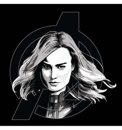 T-shirt Avengers Endgame - Femme - Captain Marvel Grey Logo