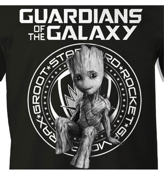 T-Shirt Groot - Gardiens de la Galaxie - Homme - Marvel - Guardian Badge