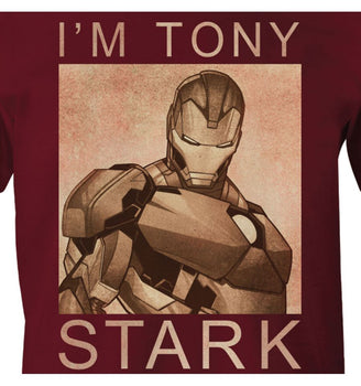 T-Shirt Iron Man - Homme - Marvel - I'm Tony Stark
