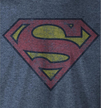 T-Shirt Superman - Homme - DC Comics - Logo Vintage