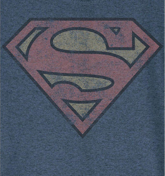 T-Shirt Superman - Enfant - DC Comics - Logo Grunge