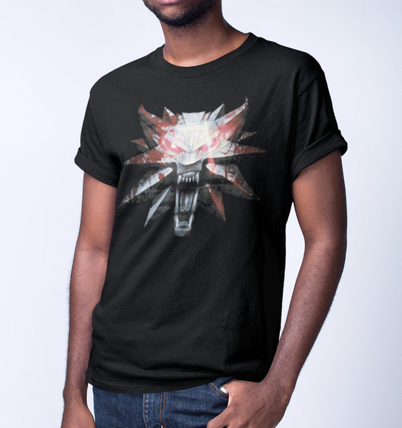 T-Shirt The Witcher - Homme - Wolf Medaillon