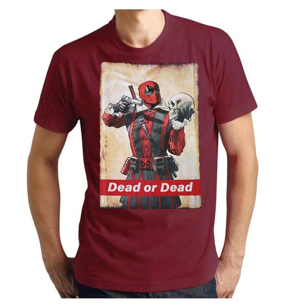 Tshirt Deadpool Marvel - Dead or Dead