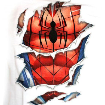 T-Shirt Spider-Man - Homme - Marvel - Costume Ripped